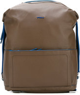 Furla open front pocket backpack - men - Leather - One Size