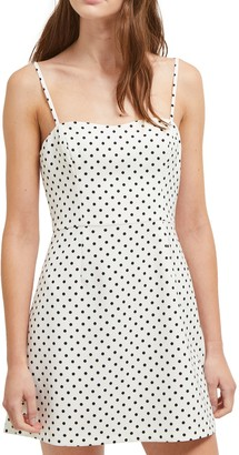 French Connection Polka Dot Whisper Minidress