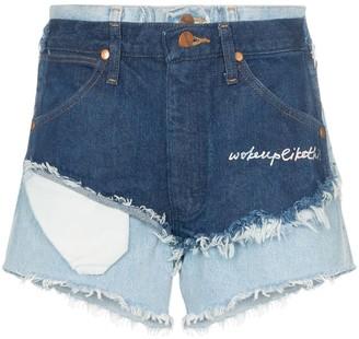 Natasha Zinko High Waist Double Layered Denim Shorts