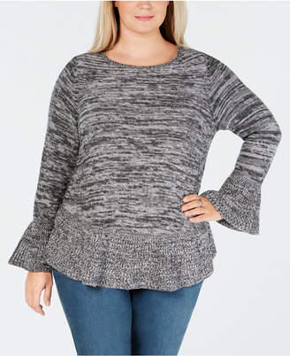Style&Co. Style & Co Plus Size Ruffled Sweater