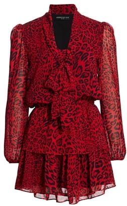 Generation Love Solange Leopard-Print Ruffle Dress