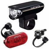 Cat Eye CatEye Gotham Front and Rear LED Bike Light Set with Bell