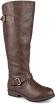 Journee Collection Brown Spokane Wide-Calf Boot