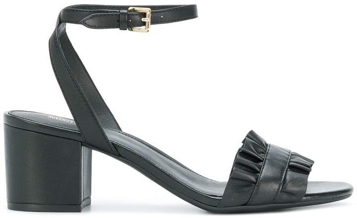 MICHAEL Michael Kors Bella ruffled mid-heel sandals