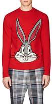 Gucci Men's Bugs Bunny-Knit Wool Crewneck Sweater