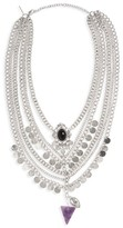 Topshop Women's Disc & Stone Layer Collar Necklace