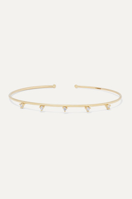 Mizuki 14-karat Gold Diamond Cuff - one size