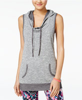 Material Girl Active Juniors' Hooded Cross-Back Top, Only at Macy's