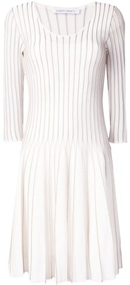 Alberta Ferretti Flared Embroidered Dress