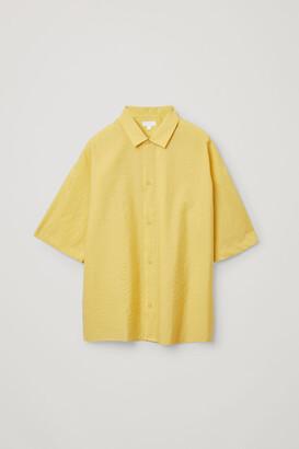 Cos Organic Cotton Oversized Short Sleeve Shirt