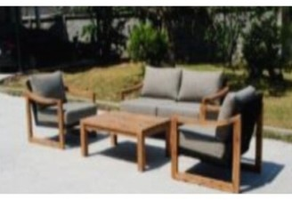 Bayou Breeze Bolivar Courtyard Casual Complete Patio Set with Cushions
