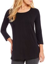 Westbound 3/4 Sleeve Seamed Tunic