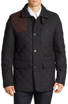Vince Camuto Leather-Trimmed Quilted Jacket