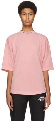 Palm Angels Pink Classic Logo T-Shirt