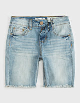 INDIGO REIN Frayed Hem Girls Denim Bermuda Shorts
