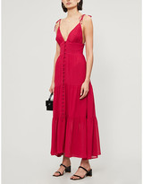 Reformation Jaden semi-sheer crepe midi dress