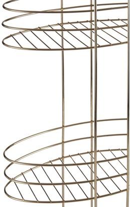 Premier Housewares Gold Plated 3 Tier Bathroom Storage Rack