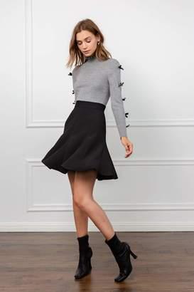 J.ING Skater Black Godet Skirt