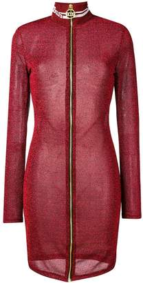GCDS lurex fitted zip dress