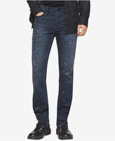 Calvin Klein Jeans Men's Night Sky Slim-Straight Fit Paint-Splatter Jeans