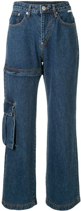 pushBUTTON Transformer Two-Way high-rise jeans