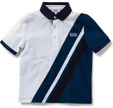 HUGO BOSS Boys Short Sleeve Banner Stripe Polo (4)
