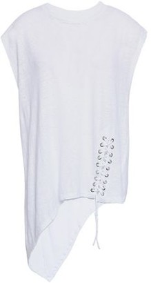 IRO Lace-up Slub Linen-jersey Top