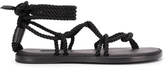 Ann Demeulemeester rope-effect wrap-around sandals