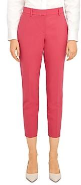 Theory Treeca Wool-Blend Cropped Pants