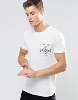 Esprit T-Shirt with Contrast Printed Pocket