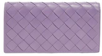 Bottega Veneta Large Leather Intrecciato Continental Wallet