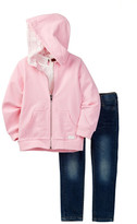 7 For All Mankind Hoodie, Tee, & Jean Set (Toddler Girls)
