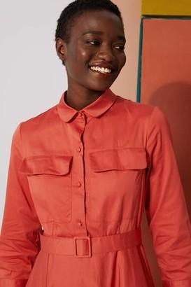 Le Mont Saint Michel - Msm Robbie Patch Pocket Dress Burnt Orange - 36