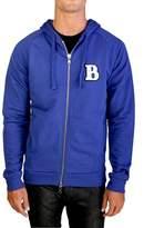 "Pierre Balmain Men's ""le Rock Parisien"" Zip-up Hoodie Jacket Blue."