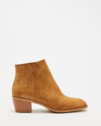 Spurr Women's Brown Heeled Boots - Arisun Ankle Boots - Size 5 at The Iconic