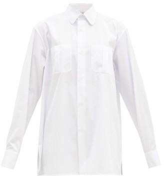 Connolly - Oversized Club-collar Cotton-poplin Shirt - White