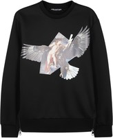 Neil Barrett Ruben's Eagle Black Neoprene Sweatshirt