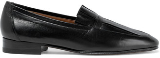 The Row Adam Pleated Leather Loafers