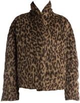 Unravel Project Oversize Leopard Faux Fur Jacket