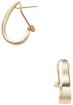 Candela 14K Yellow Gold Small J Hoop Earrings
