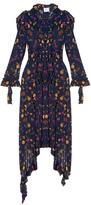 Vetements Ruffle-shoulder floral-print dress