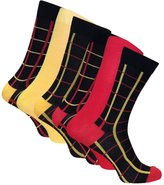 Sock Snob 6 Pack Mens Formal Dress Patterned Odour Control Bamboo Socks