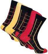 Sock Snob 6 Pairs Mens Formal Dress Patterned Odour Control Bamboo Socks
