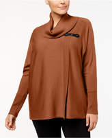 JM Collection Plus Size Cowl-Neck Sweater, Created for Macy's