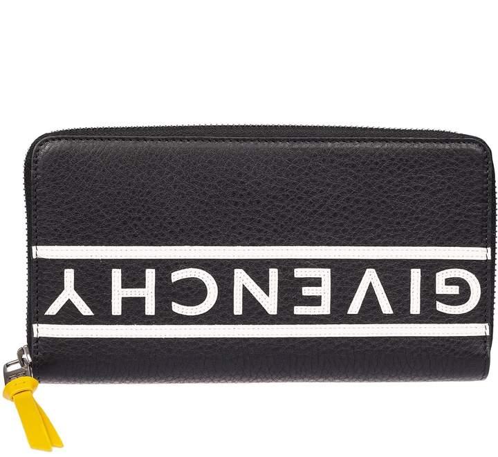 Givenchy Printed Logo Zip Around Wallet