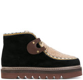See by Chloe cleated sole chukka boots - women - Leather/Suede/rubber - 38