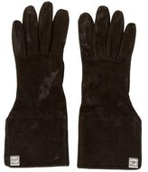 Chanel Suede CC Gloves