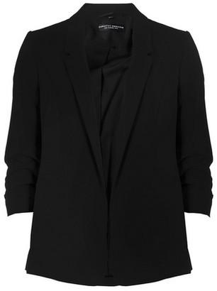 Dorothy Perkins Womens Black Ruched Sleeve Jacket, Black