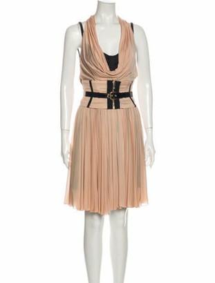 Dolce & Gabbana Cowl Neck Knee-Length Dress