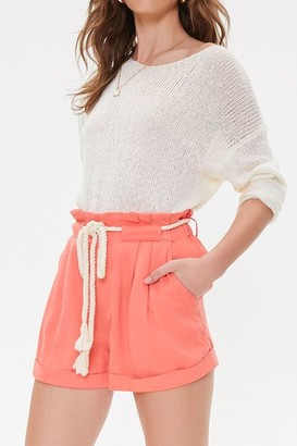 Forever 21 High-Rise Paperbag Shorts